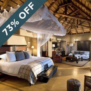 Save an astounding 73% at the sumptuous Lion Sands Tinga Lodge!