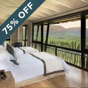 Stay at the unique and unforgettable Marataba Mountain Lodge and get a 75% discount!