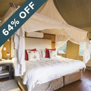 Save 64% at the secluded and peaceful Thakadu River Camp!